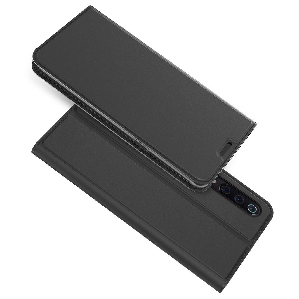Xiaomi Mi 9 Leather Case Flip Slim Card Slot Magnetic Closure Kickstand Black
