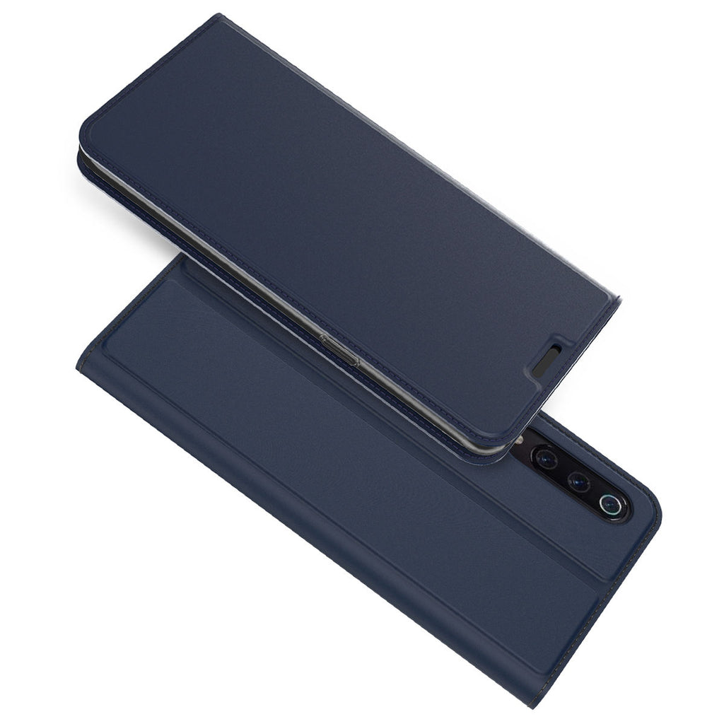 Xiaomi Mi 9 Mi 9 Explore Case PU Leather Slim Wallet Card Slot with Kickstand Magnetic Flip Cover Blue