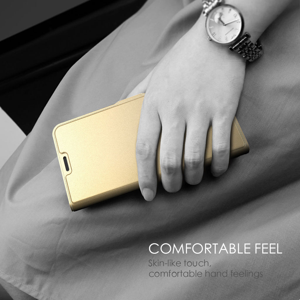Xiaomi Mi 9 Mi 9 Explore Case Wallet Card Functional PU Leather Shell Magnetic Closure Gold
