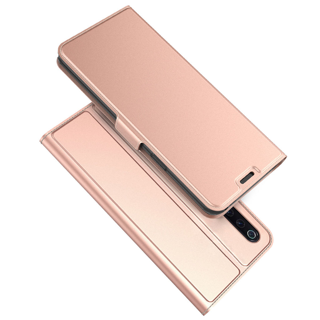 For Mi 9 Mi 9 Explore Xiaomi Wallet Case Card Slot Magnetic Clasp Flip Cover Rose Red