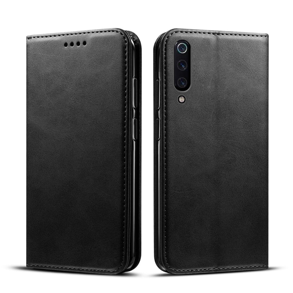 Xiaomi Mi 9 Xiaomi Mi 9 Explore Simple Case PU Leather Card Money Slots Wallet Magnetic Closure Black