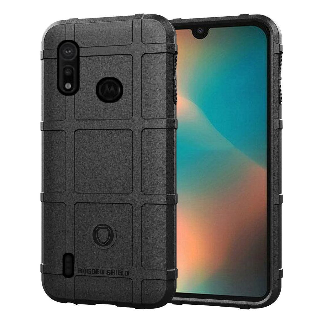Moto P40 Play Case Heavy Duty TPU Bumper Shock Resistant Cover Black