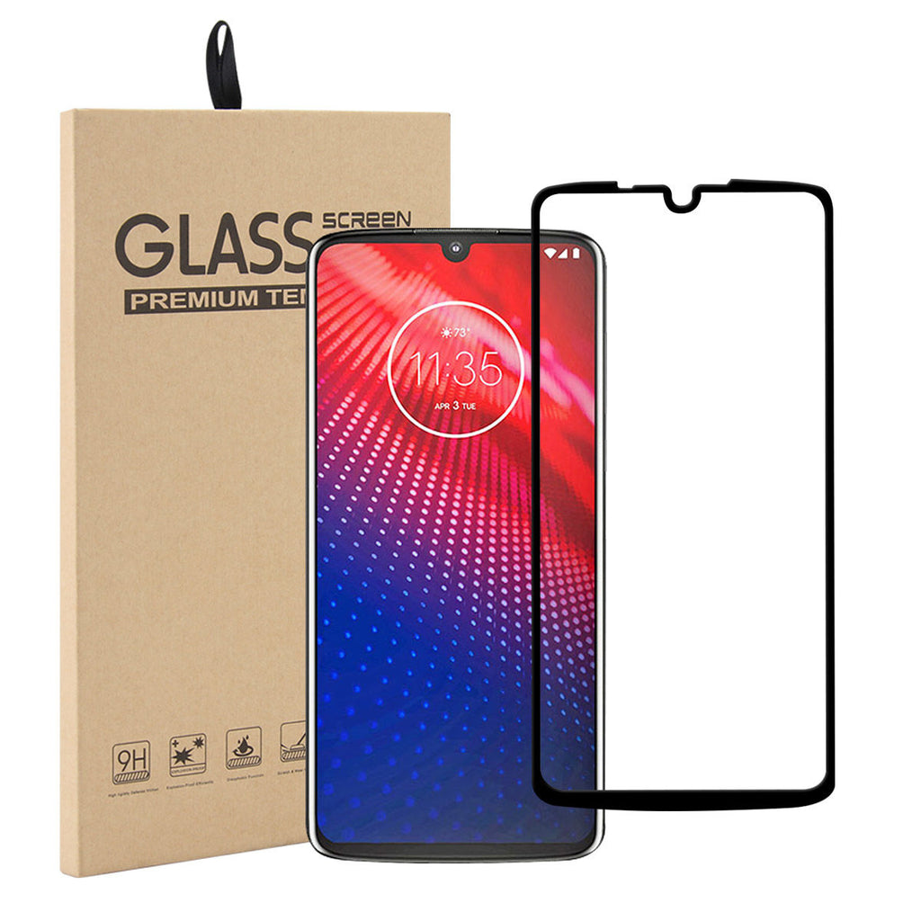 Full Screen Protector for Motorola Moto Z4 Anti-Scratch Tempered Glass 1 Pack