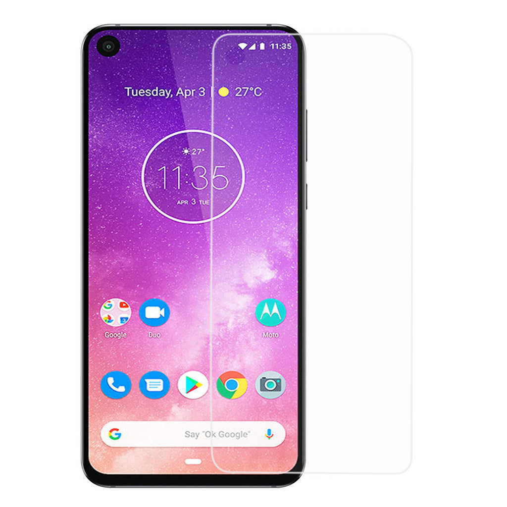 Motorola One Vision Screen Protector Anti Scratch Tempered Glass 2Pack