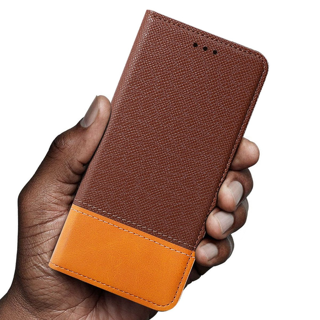 OPPO K3 Wallet Case Folio Flip Stand Cover with Card Slots Brown
