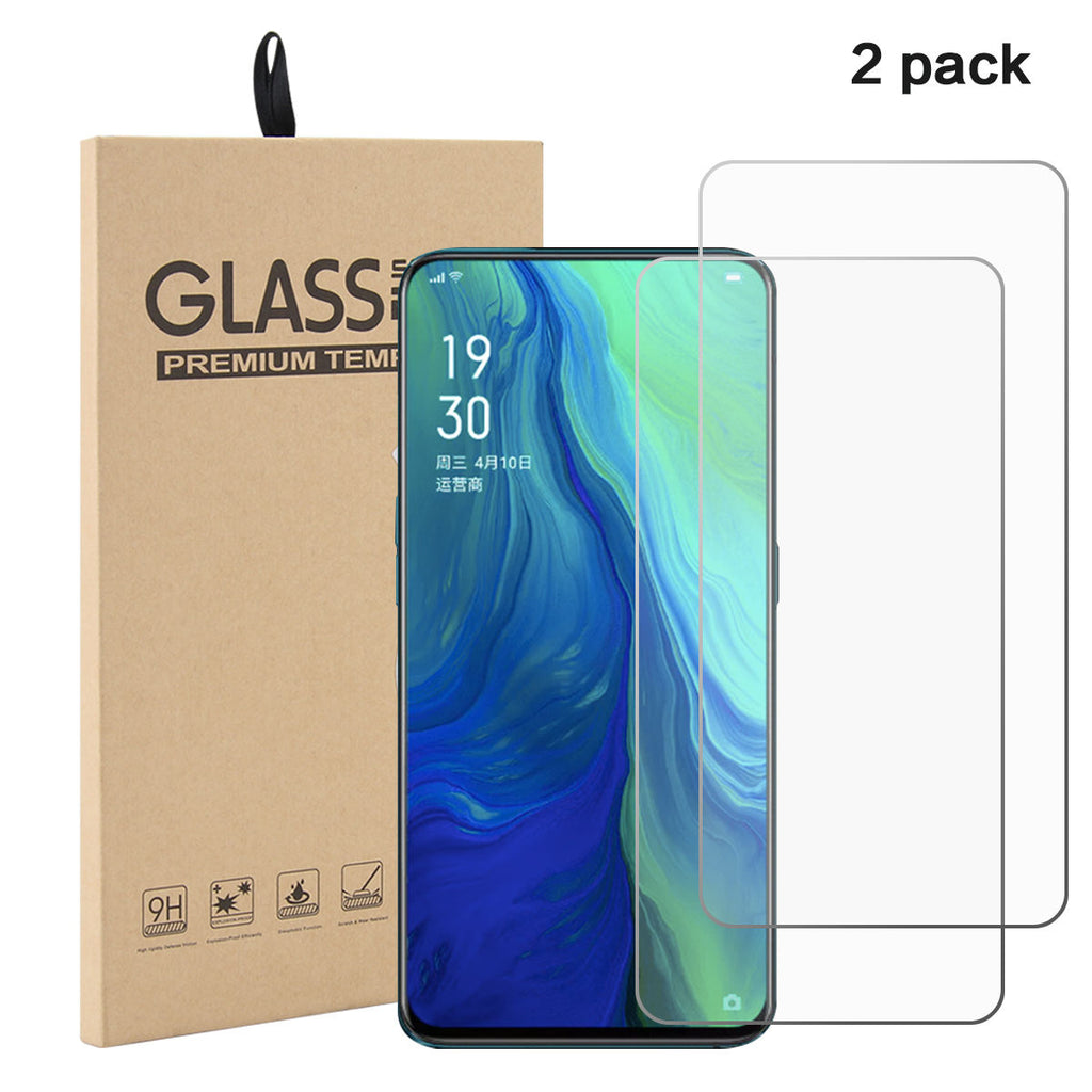 2 Pack OPPO Reno 10X Zoom Screen Protector In-Screen Touch Case Friendly Glassa Film