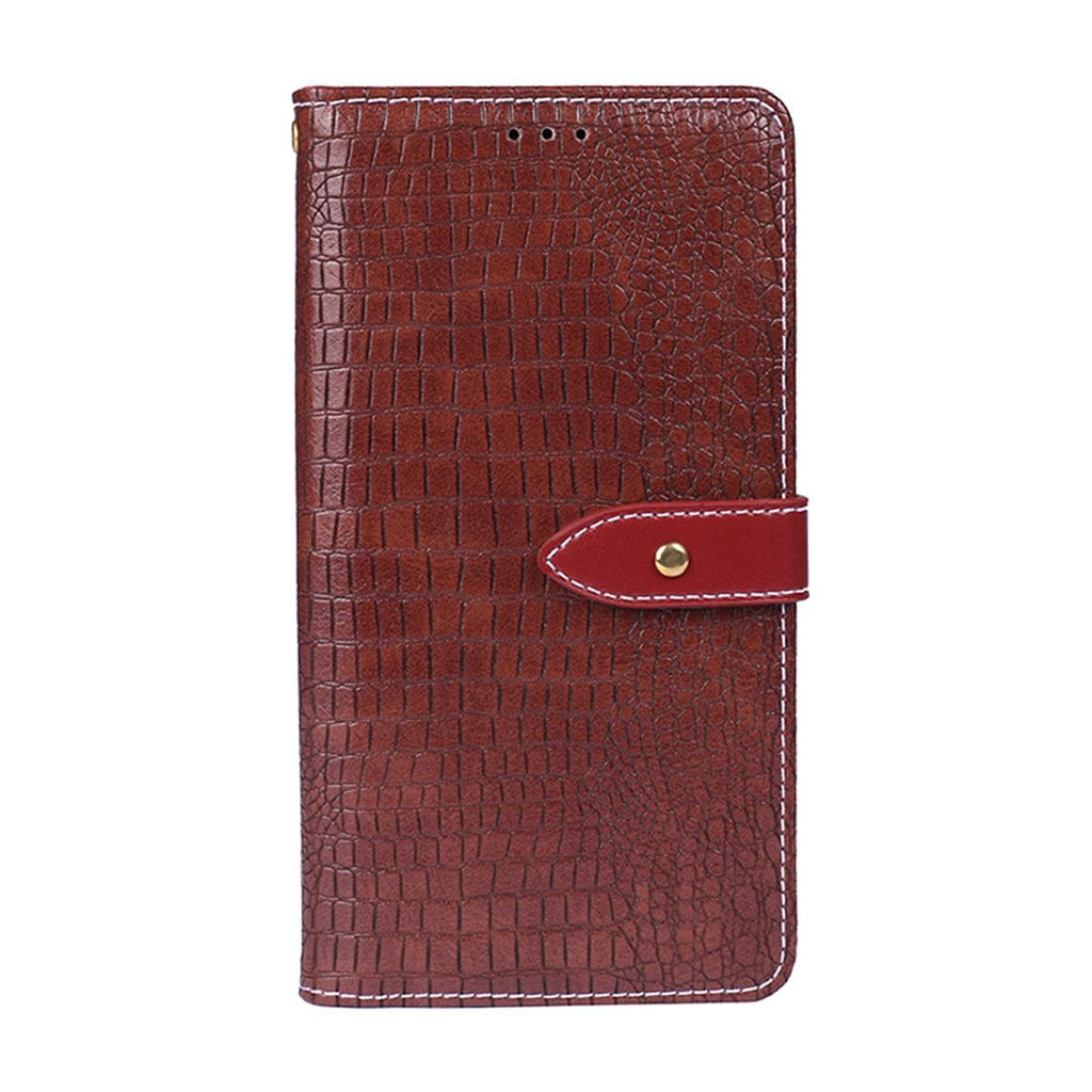 Realme 3 Leather Case Classic Wallet Folding Flip Stand Case with Card Slots Red