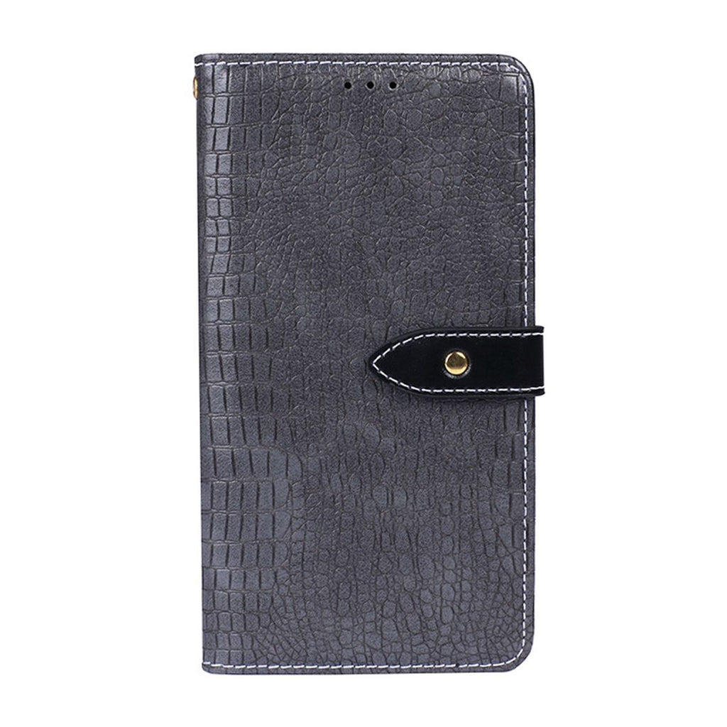 Realme 3 Wallet Case Classic Folding Flip Case with Kickstand Card Slots Grey