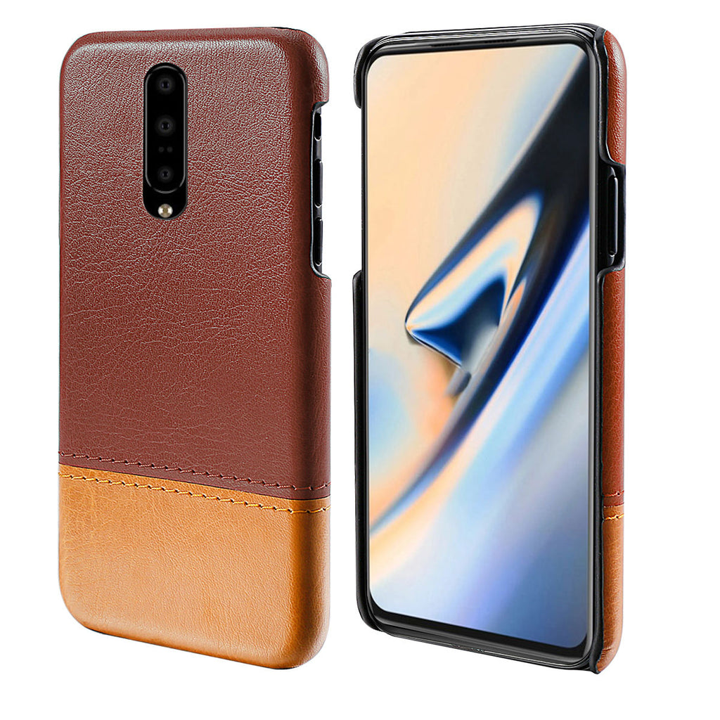 OnePlus 7 Case Best Anti Fall Rugged Phone Cover Browm-Light Brown