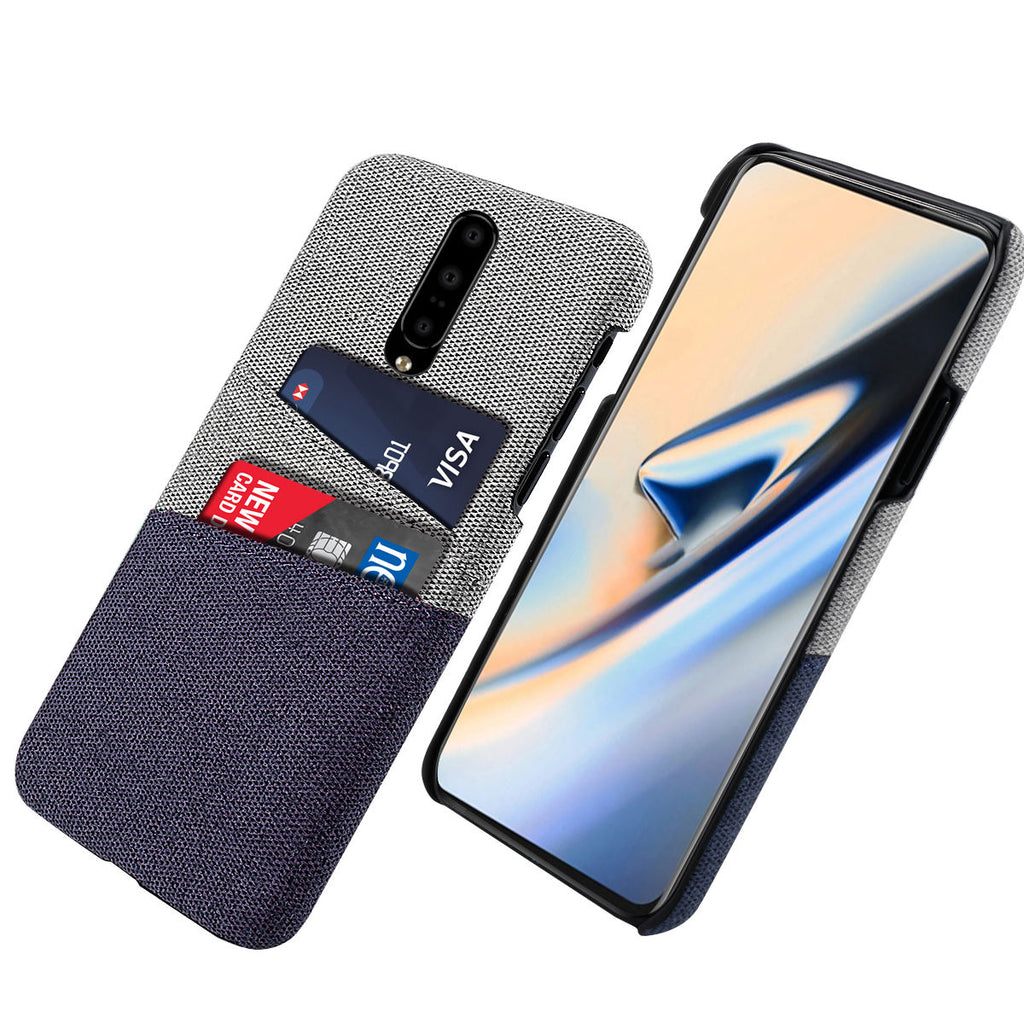 Case for OnePlus 7 Shockproof Rugged Felt Cloth PC Hard Case Purple