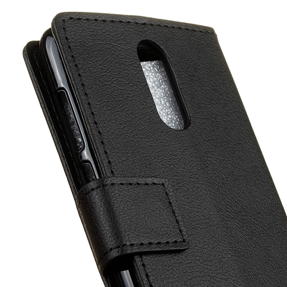 Oneplus 7 Pro Leather Case Flip Wallet Shockproof Cover with Card Slots Black