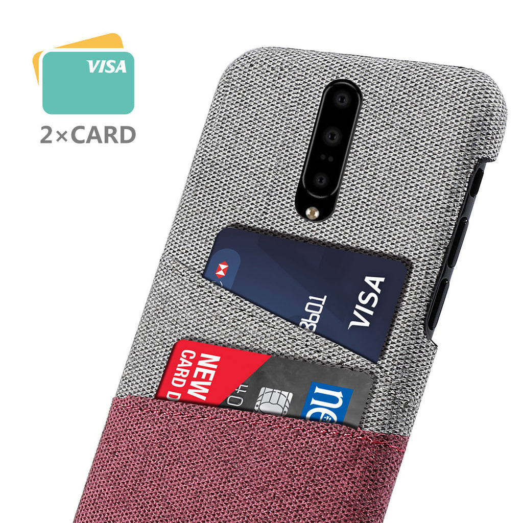 Case for OnePlus 7 Pro Shockproof Rugged Cloth PC Hard Case Red