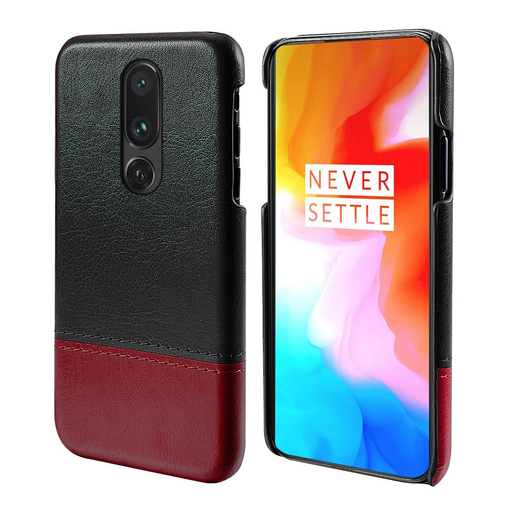 Oneplus 7 Pro Case Hard Rugged Drop Protection Case Ultra Thin Cover Black-Red