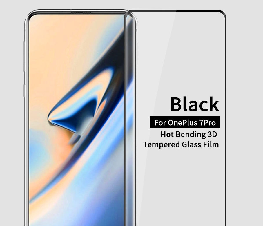 Screen Protector for OnePlus 7 Pro 9H Anti-Shatter Black Screen Tempered Glass 1 Pack