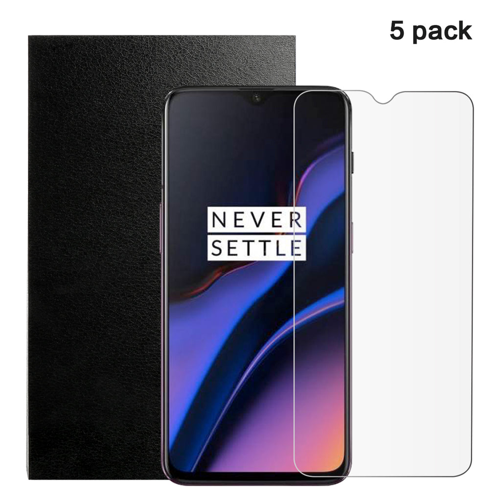 OnePlus 7 Screen Protector Anti-Scratch Bubble Free Tempered Glass Flim 5 Pack