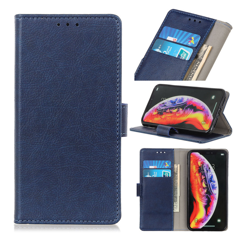 OnePlus 7 Pro Case Slim PU Leather Protective Credit Card Wallet Case for Men Blue