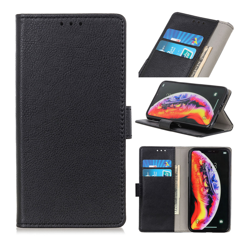 OnePlus 7 Pro Wallet Case Slim Cover with Card Slots Stand Magnetic Closure Black