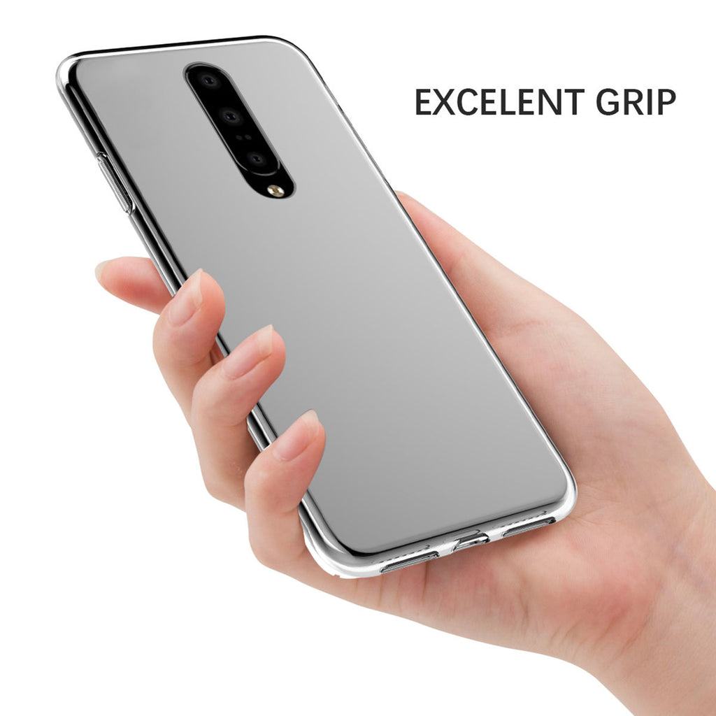Oneplus 7 Case Crystal Clear TPU Bumper Impact Resistant Phone Cover Transparent