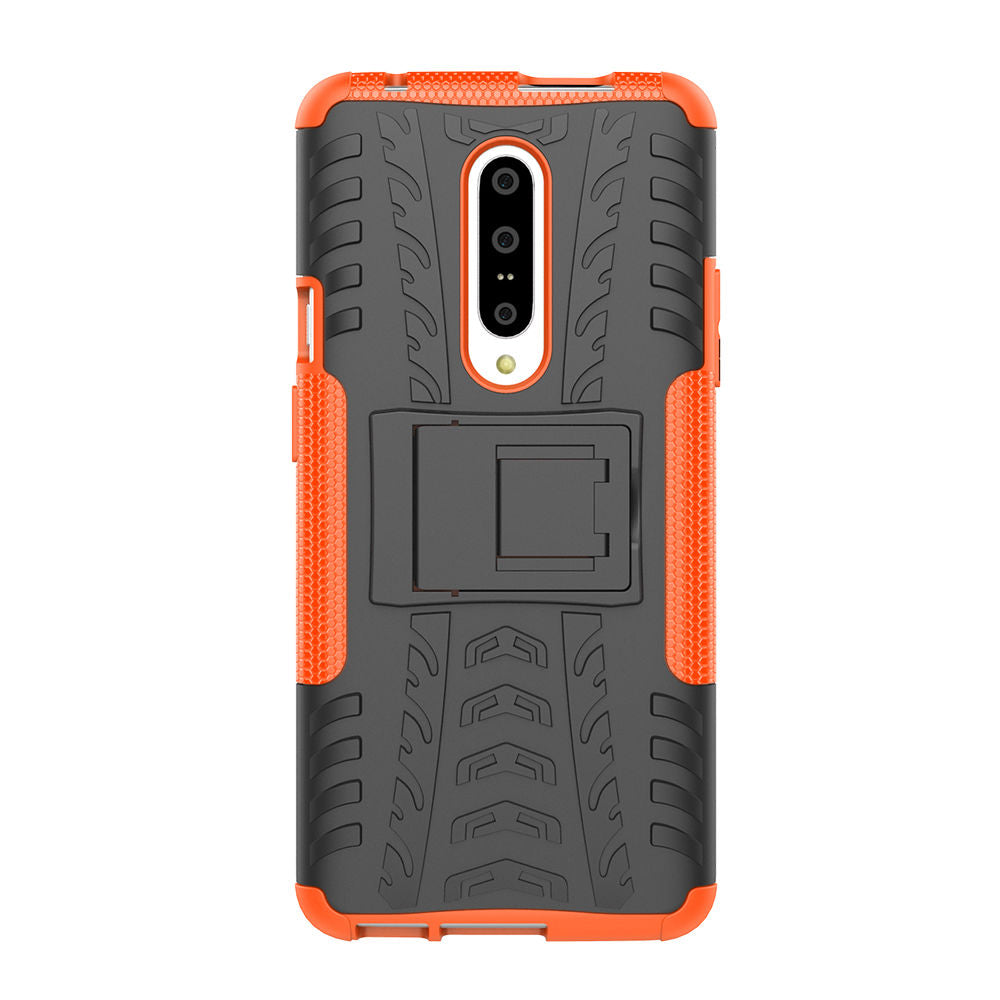 Oneplus 7 Pro Case 2 in 1 Rugged Shock Absorption Case with Kickstand Orange