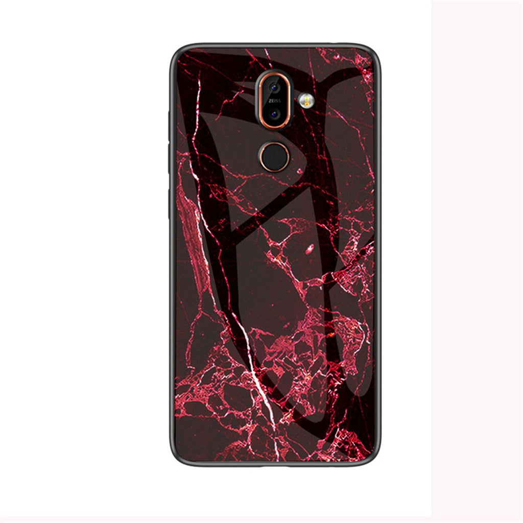 Oneplus 7 Pro Case PC Ultra Thin Rugged Case Marble Pattern Cover Red