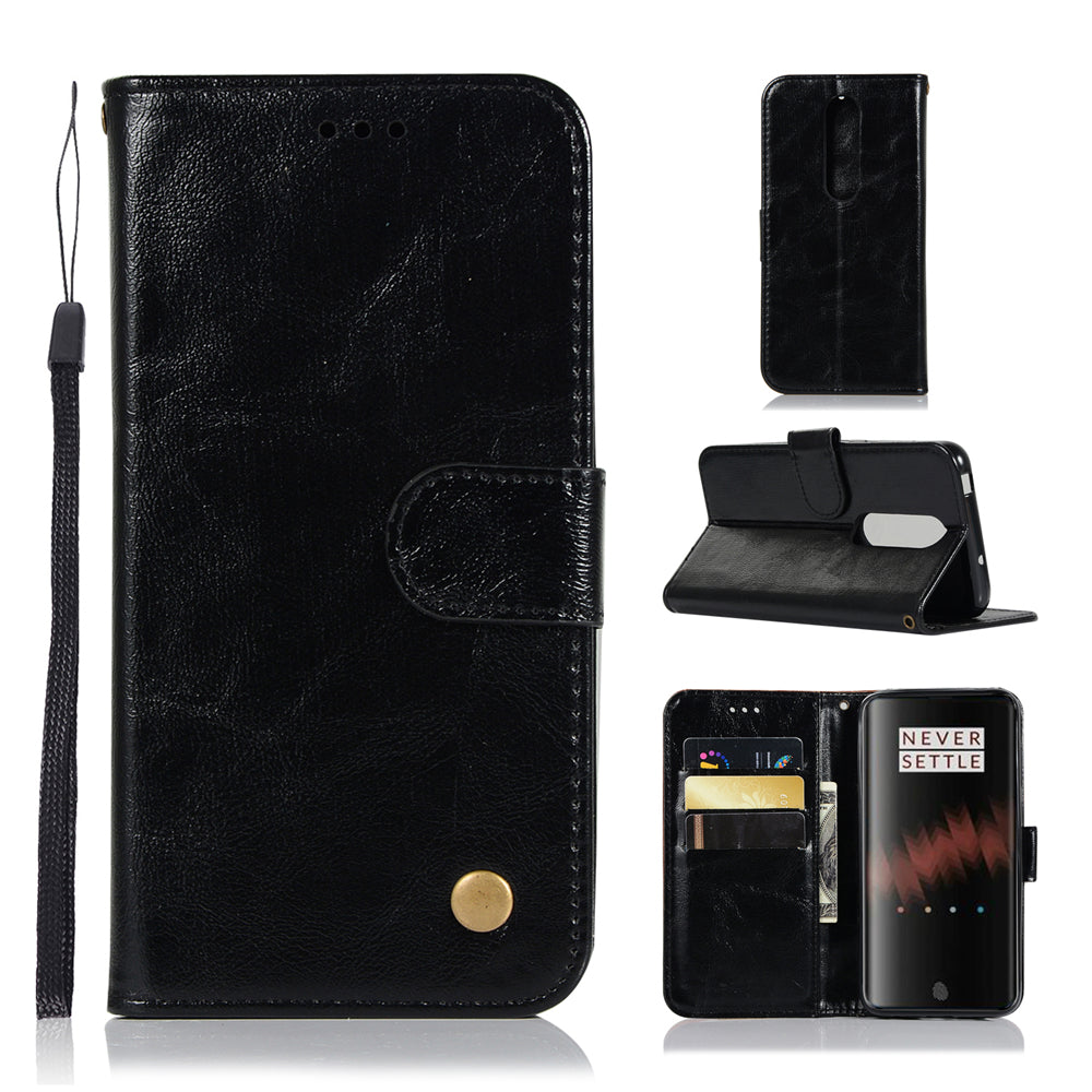 Oneplus 7 Pro Wallet Case with Credit Card Slots Folio Flip Cover Black