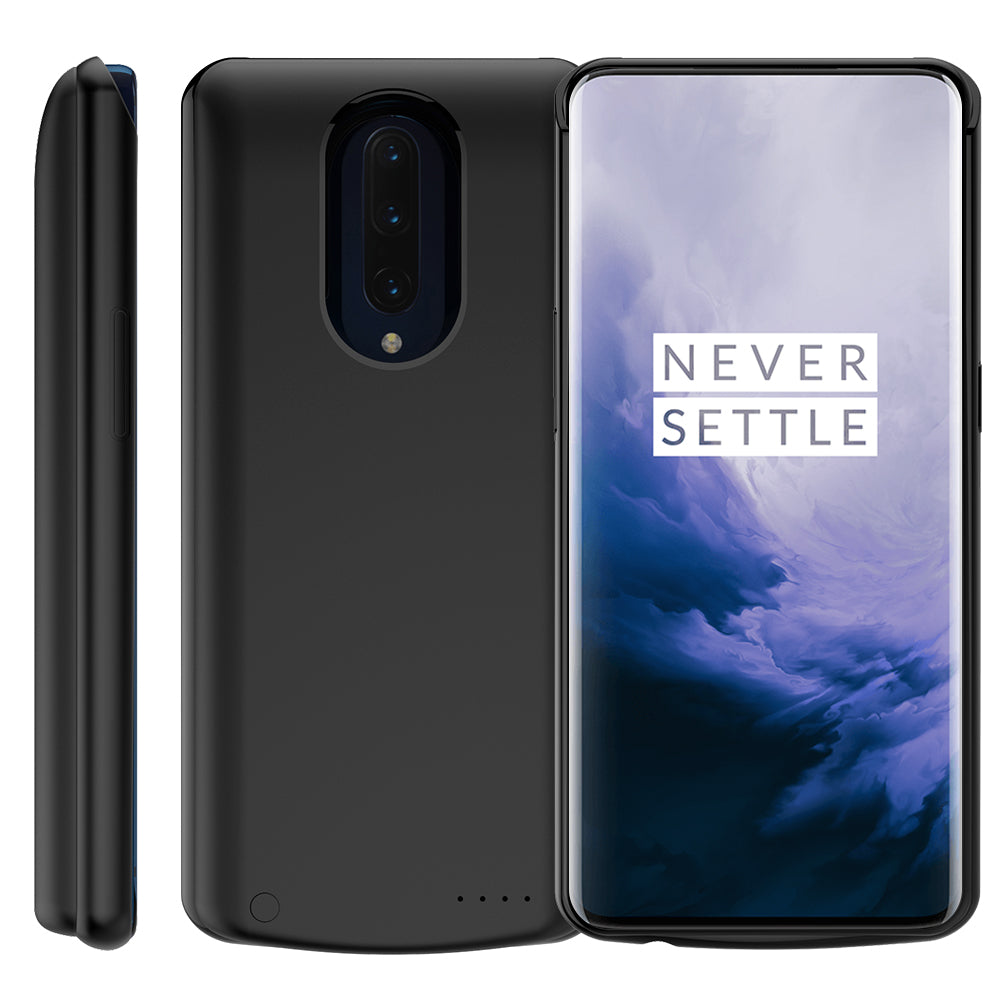 Battery Charging Case for Oneplus 7 Pro 6500mah Extended Rechargeable Charger Black