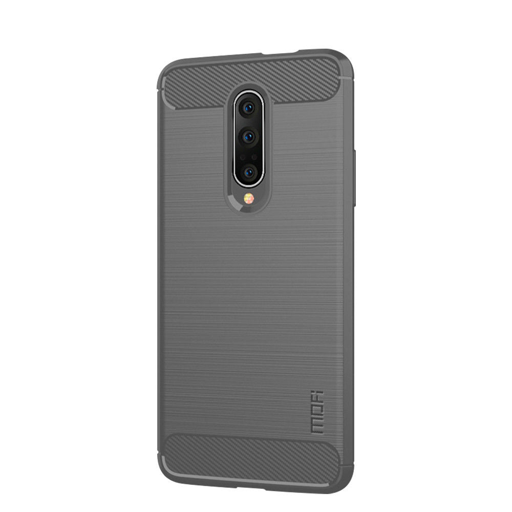 Oneplus 7 Pro Case Carbon Fiber Shock Absorption Thin Case Grey