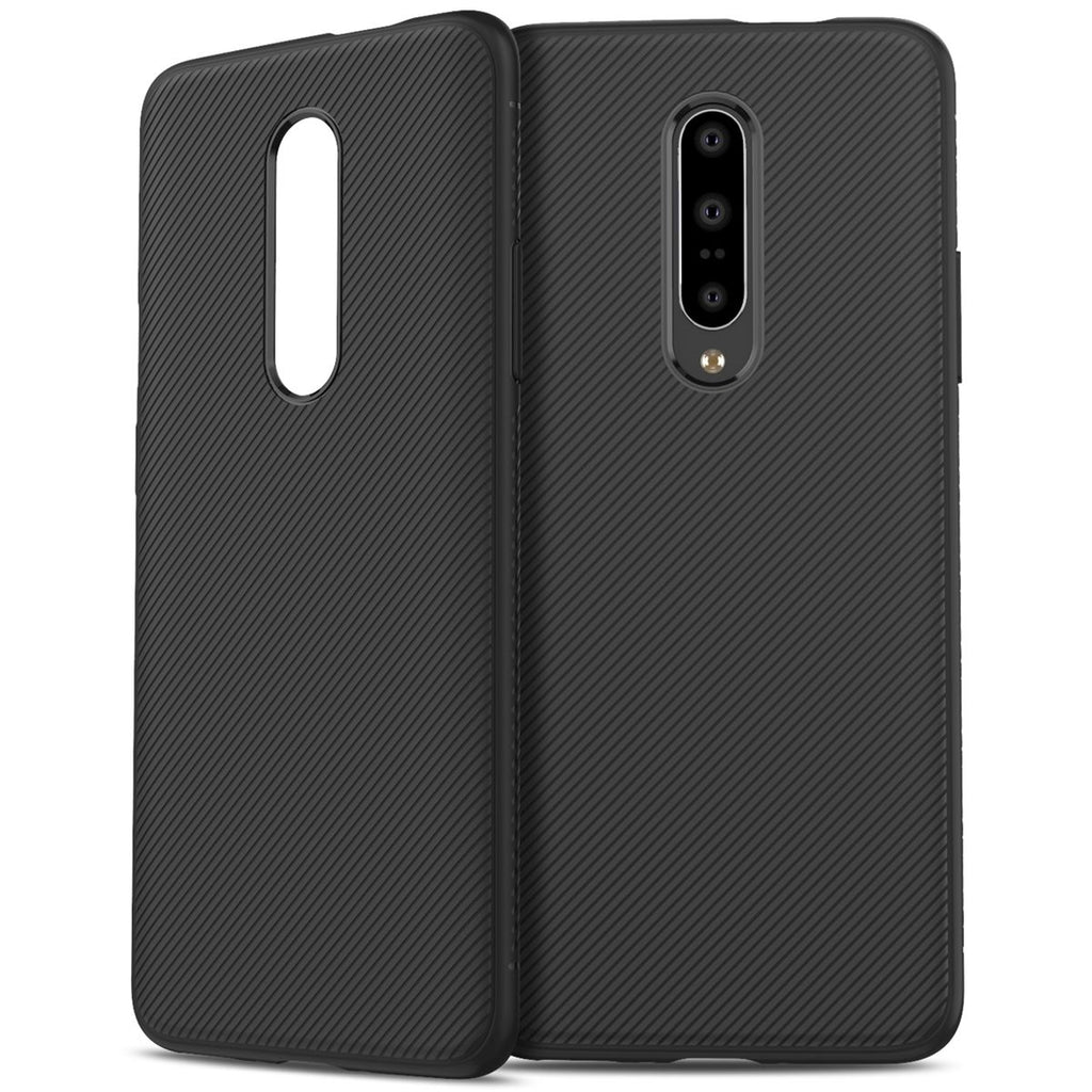 Oneplus 7 Pro Case Shock Absorption TPU Rugged Back Cover Black