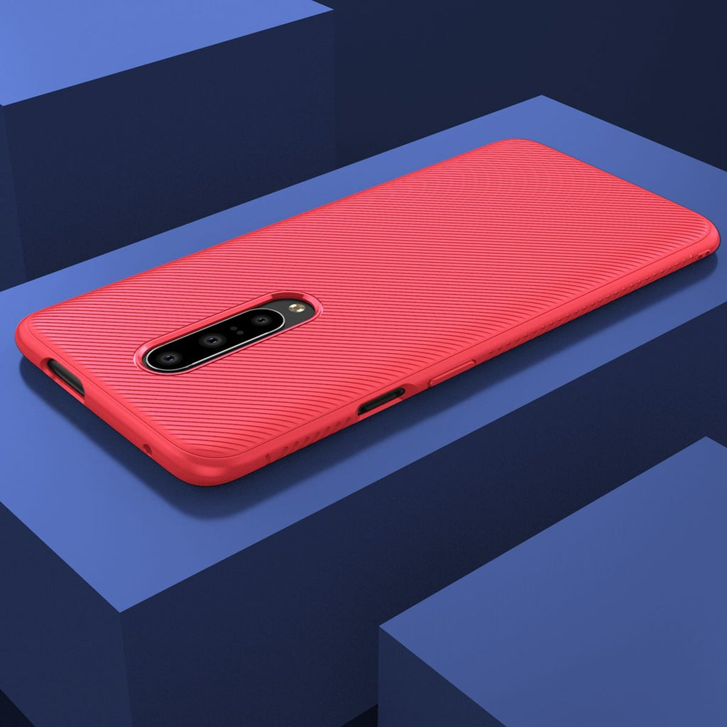 Oneplus 7 Pro Case Soft TPU Shockproof Ultra Thin Protection Case Red