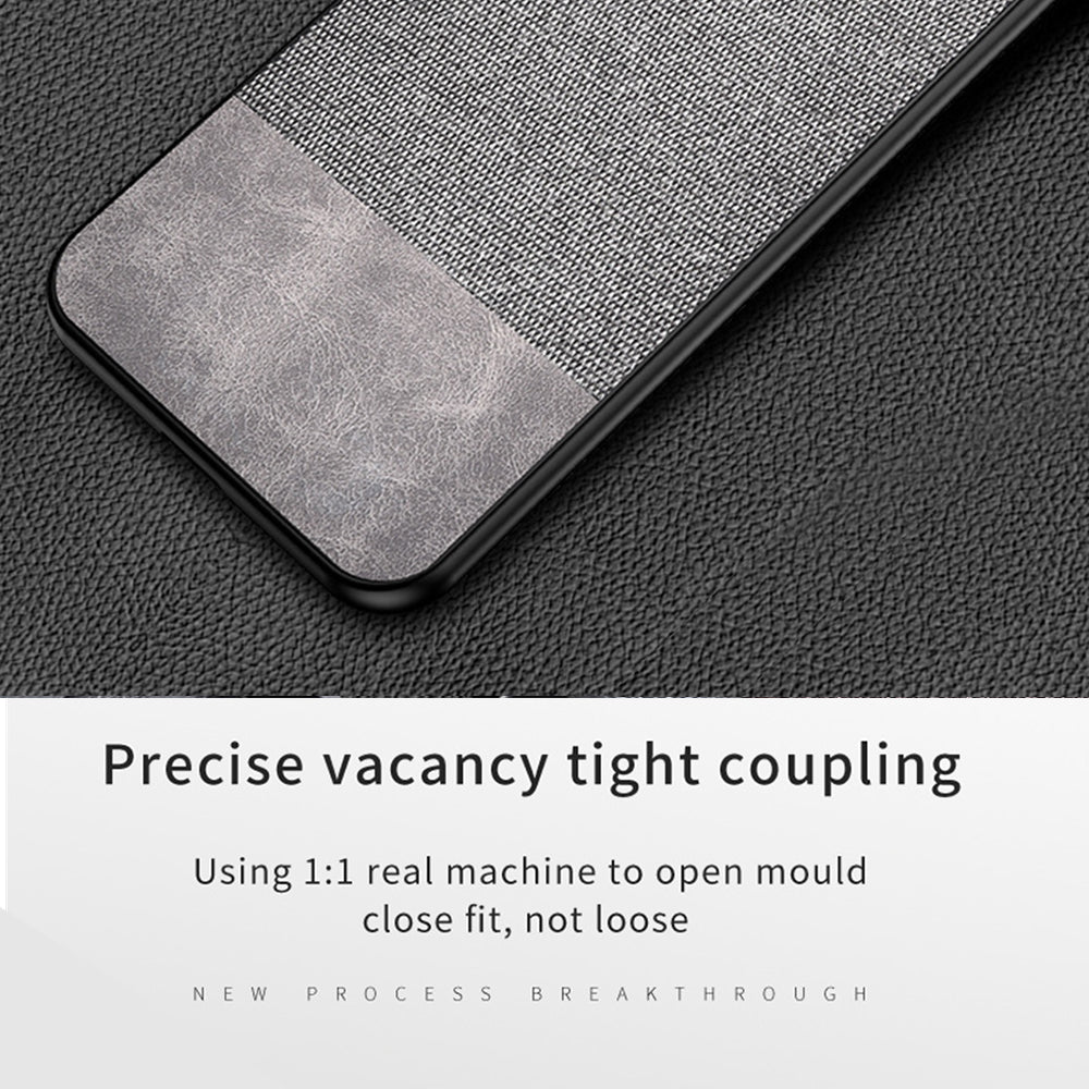Oneplus 7 Pro Case PC Fabric PU Spilicing Shock Resistant Phone Cover Grey