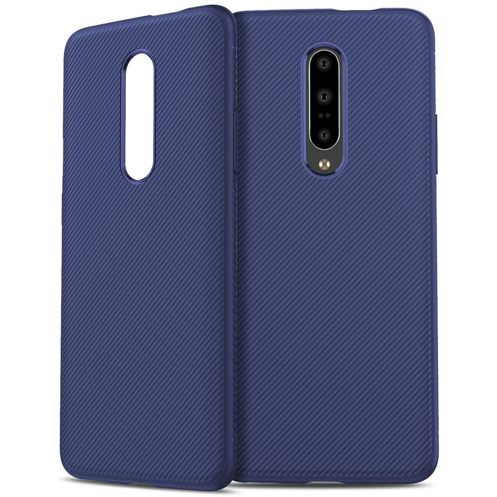 Oneplus 7 Pro Case Scratch Resistant Rugged TPU Bumper Case Dark Blue