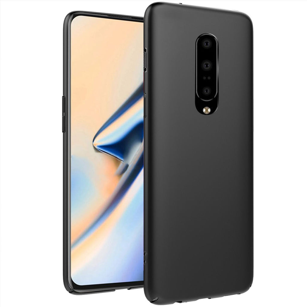 Oneplus 7 Pro Case Ultra Thin TPU Bumper Anti-Scratch Cover Black