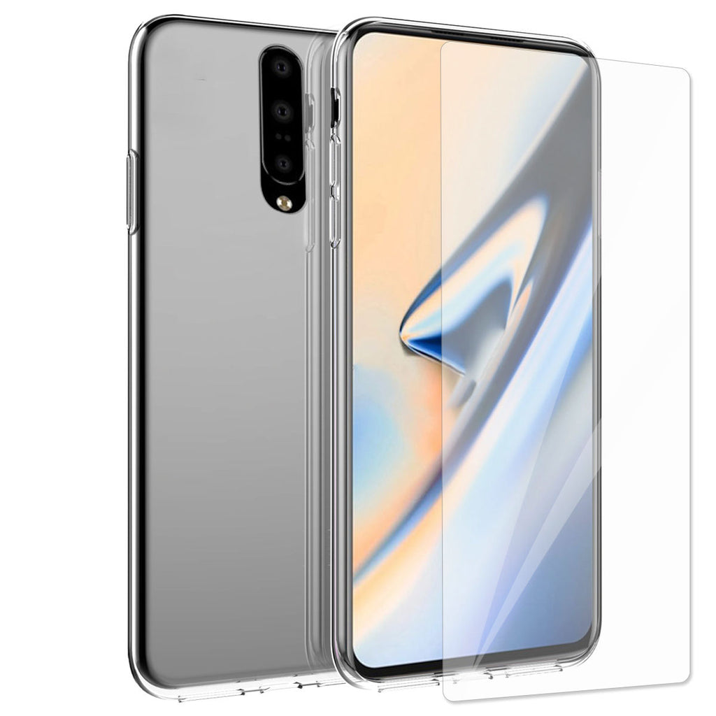 Oneplus 7 Pro Case Crystal Clear TPU Bumper Cover Anti-Scratch Transparent