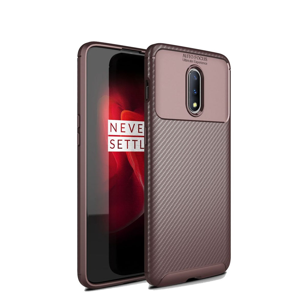 Oneplus 7 Pro Phone Case Rugged Shock-proof Protected Back Cover Dark Brown