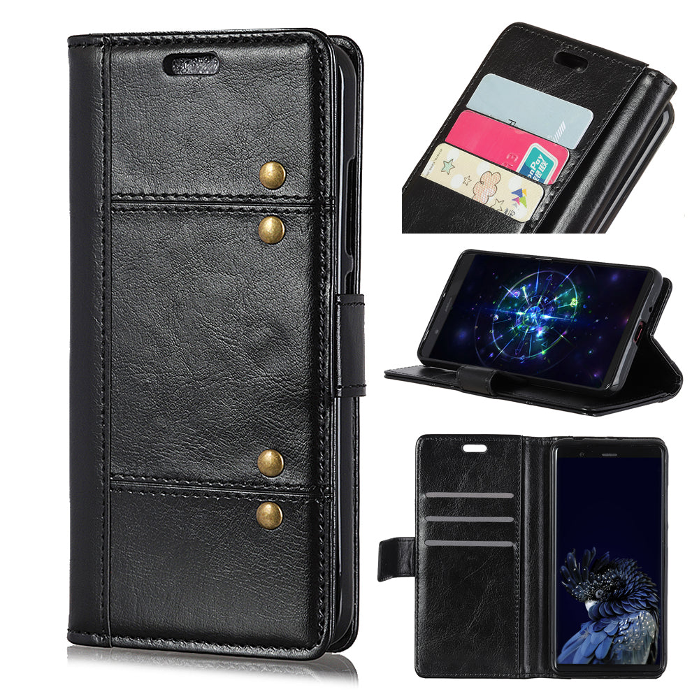 Oneplus 7 Pro Leather Case Wallet Card Holder Magnetic Flip Stand Cover Black