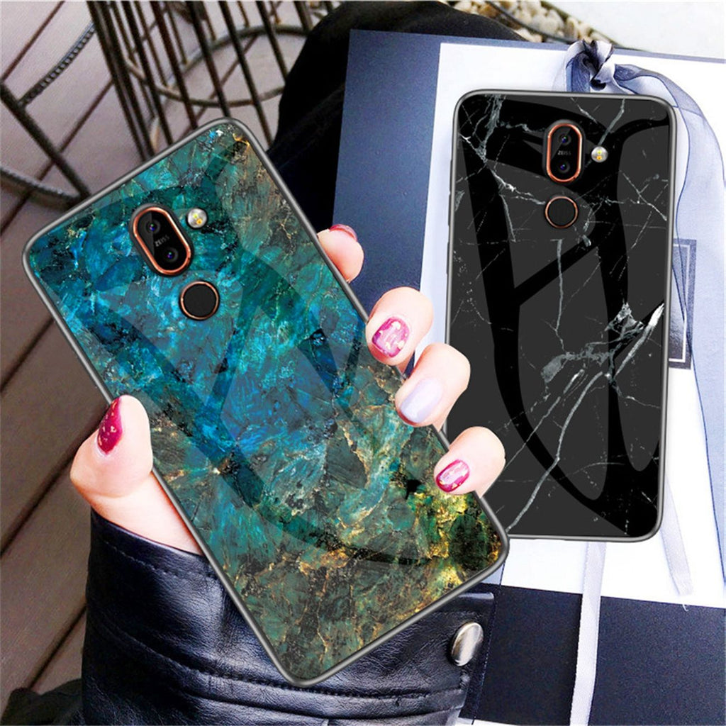 Oneplus 7 Pro Case PC Ultra Thin Rugged Anti-scratch Case Marble Cover Jadeite