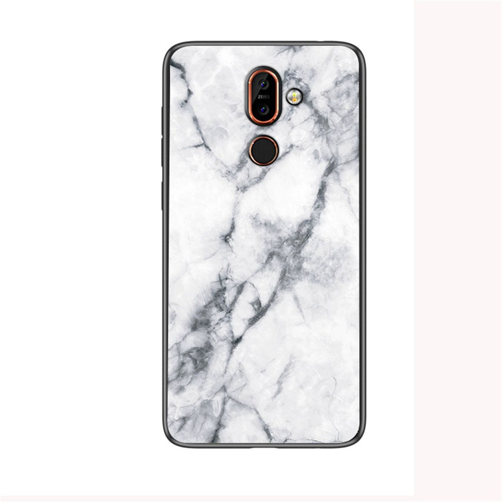 Oneplus 7 Pro Phone Case PC Shock Abrosption Anti-scratch Marble Cover White