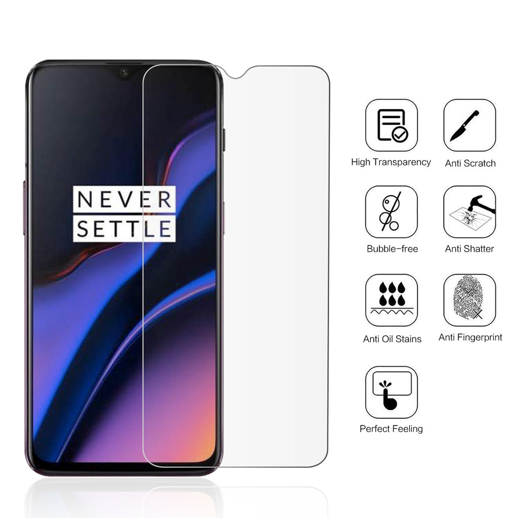 OnePlus 7 Tempered Glass Screen Protector Scratch Resistant Film Not Full Coverage