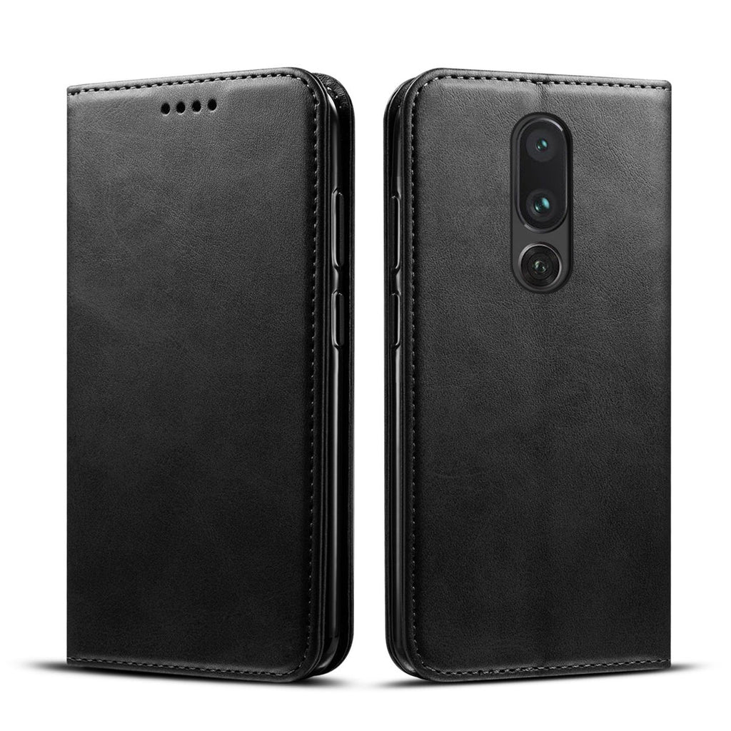 Oneplus 7 Pro Wallet Case with Card Slots PU Leather Flip Stand Cover Black