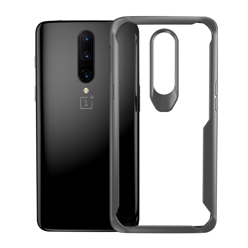 Oneplus 7 pro Case Drop-proof TPU Crystal Clear Phone Cover Grey