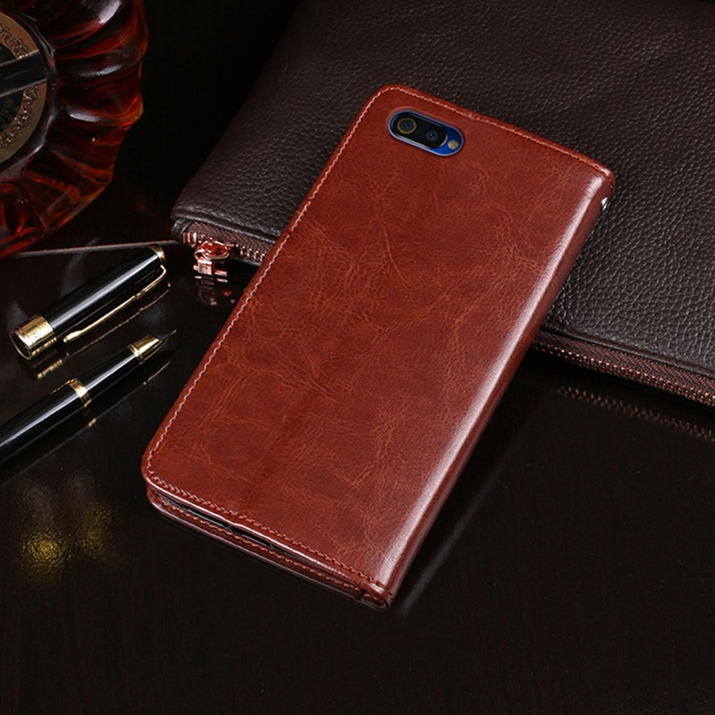 Realme C2 PU Leather Case Protective Card Slots Wallet Cover