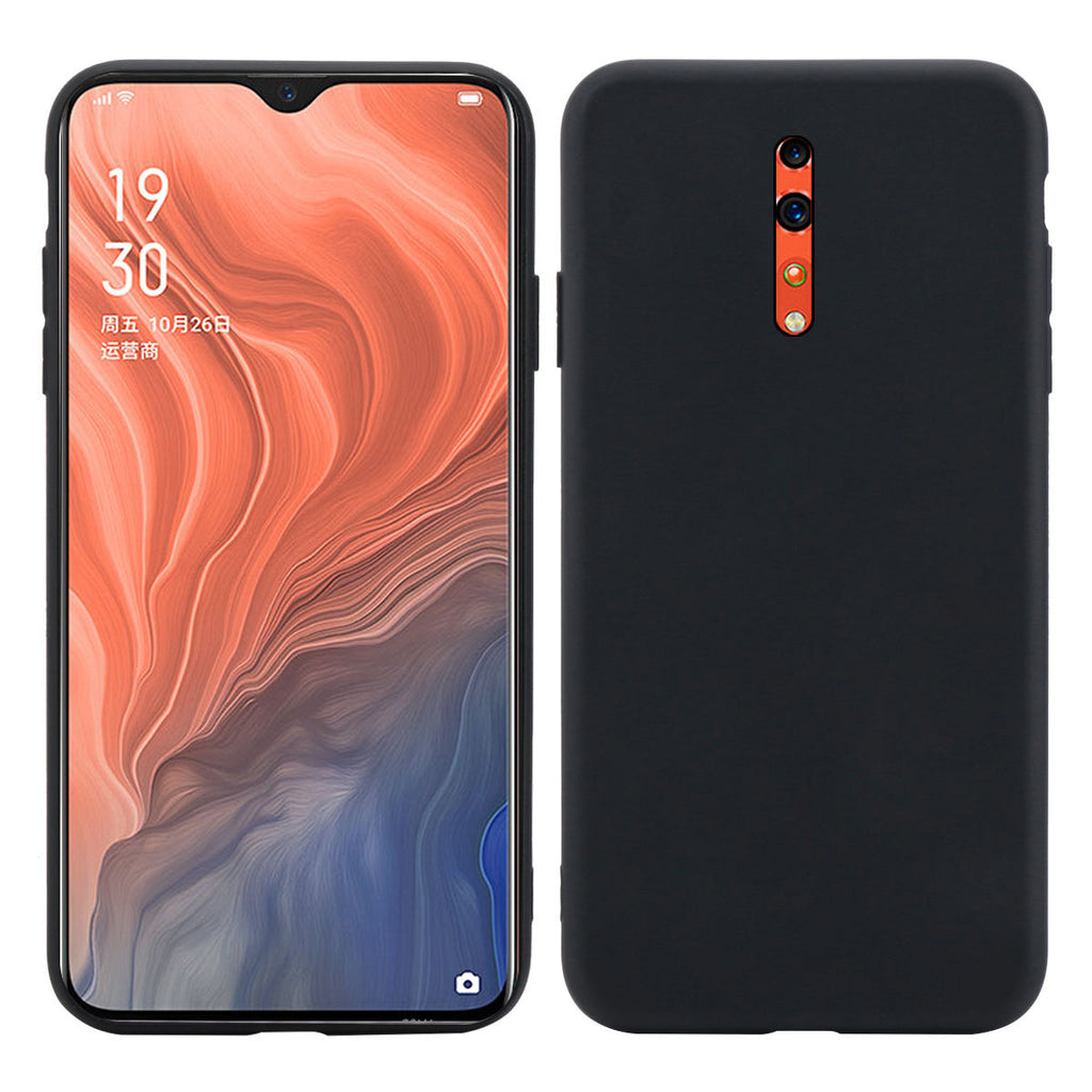 Oppo Reno Z Case Ultra-Thin Shock-Absorption TPU Bumper Cover Black