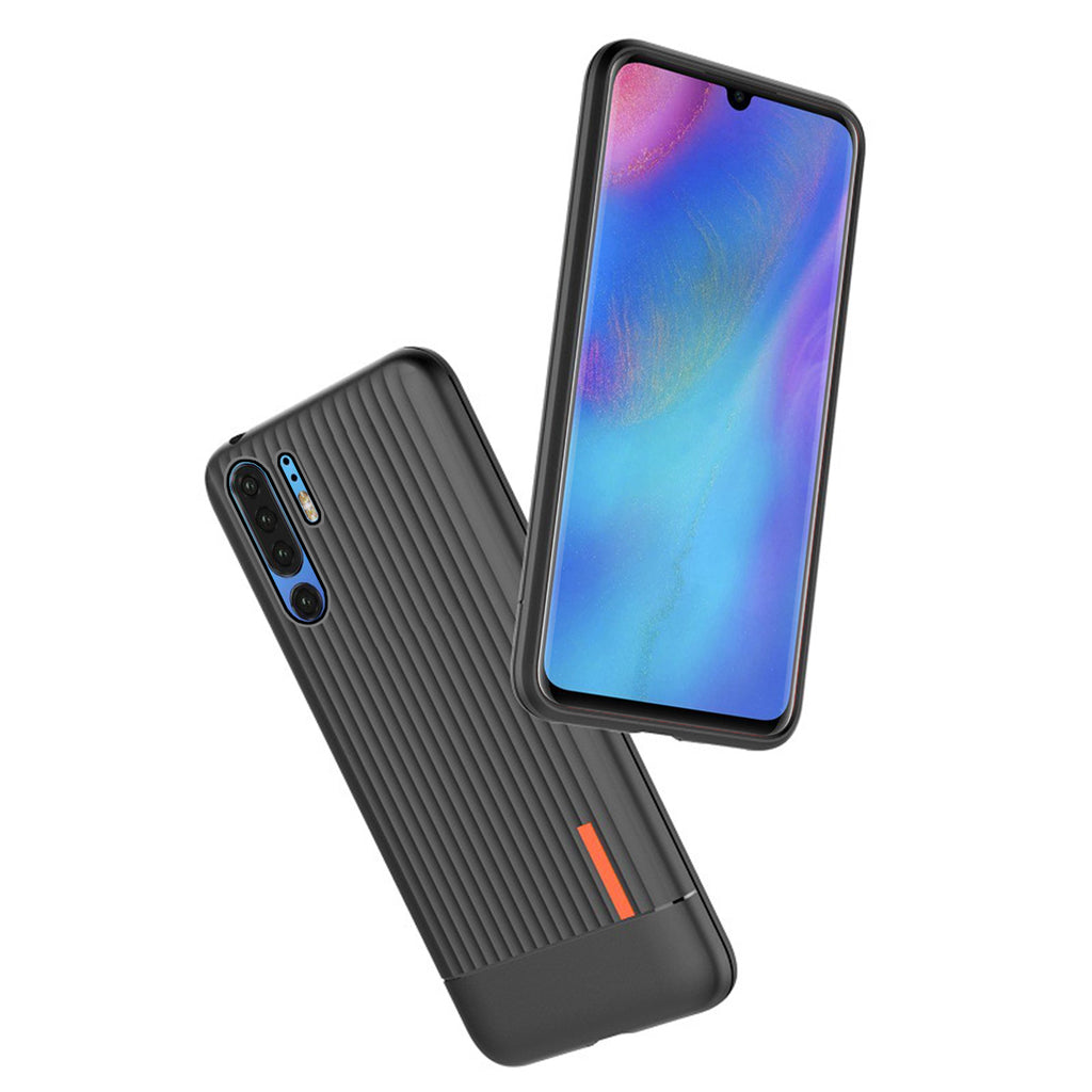 Huawei P30 Pro Case Slim Fit Soft TPU Hybrid Cushion Suitcase Cover Black