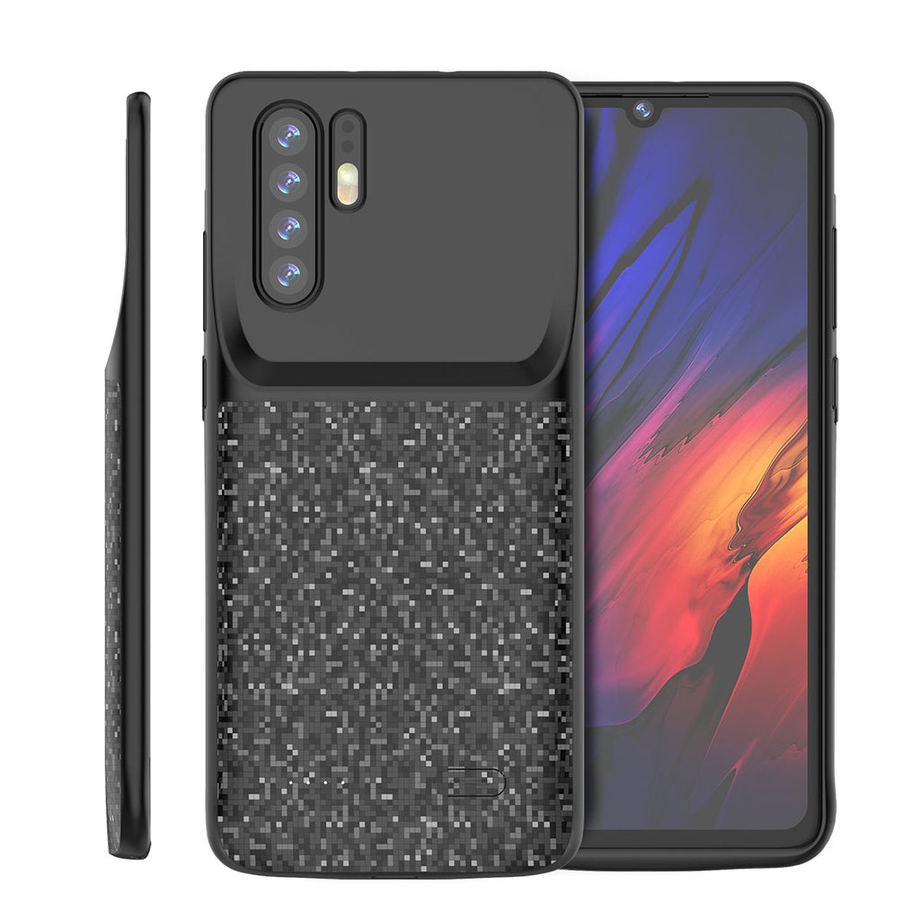 Huawei P30 Pro Extra Battery Case 4700mAh Extended Pack Anti-Scratch Black