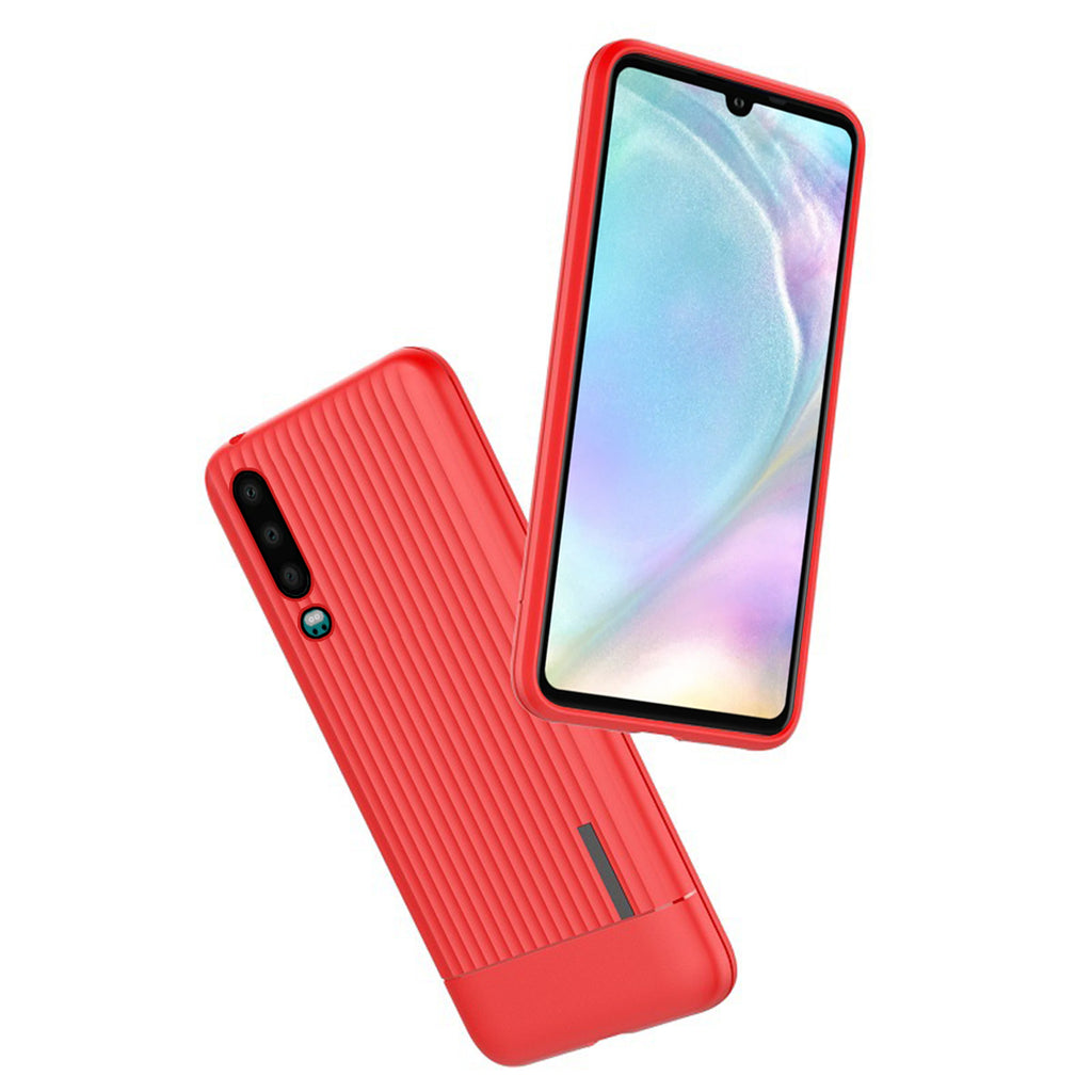 Huawei P30 Case Soft TPU Bumper Anti-scratch Thin Protective Case Red