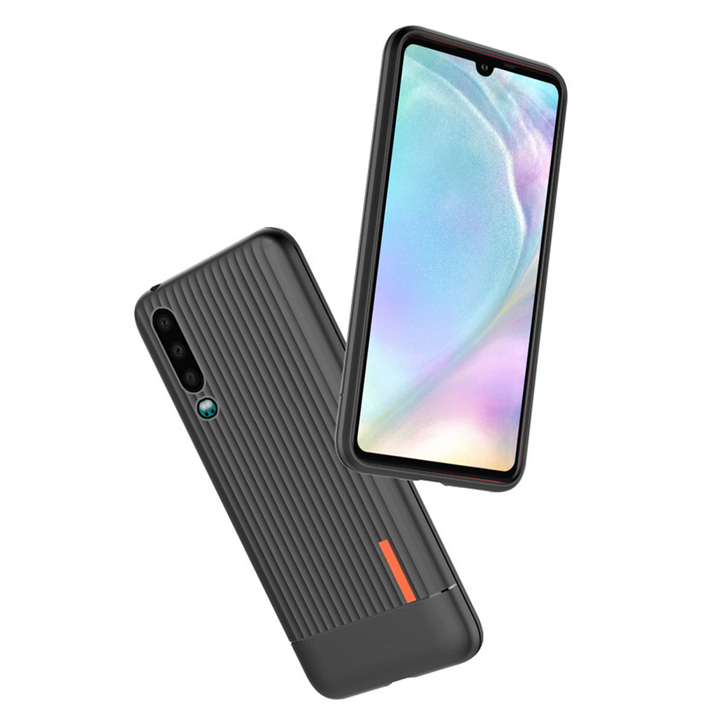 Huawei P30 Case TPU Bumper Shock Absorption Reinforced Protective Cover Black