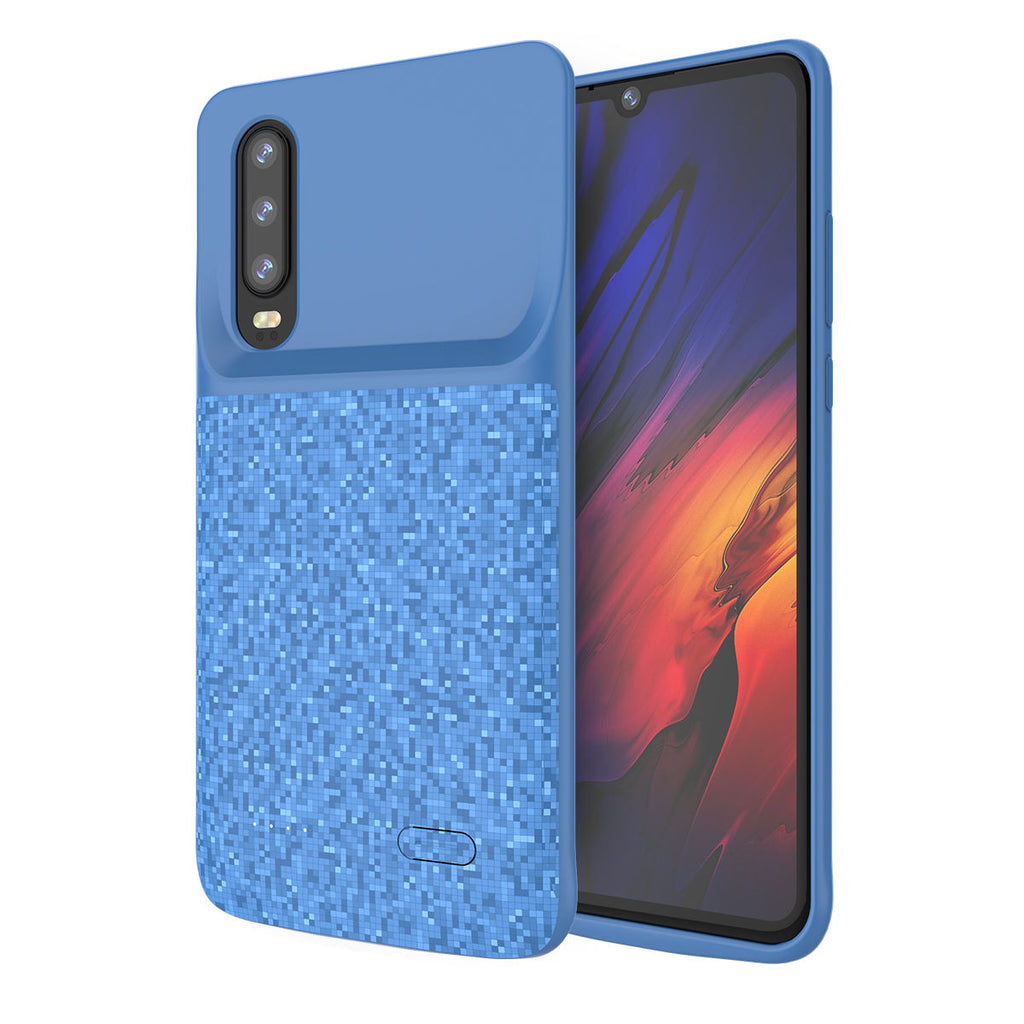 Huawei P30 Battery Case 4700mAh Rechargeable Extended Power Bank Blue