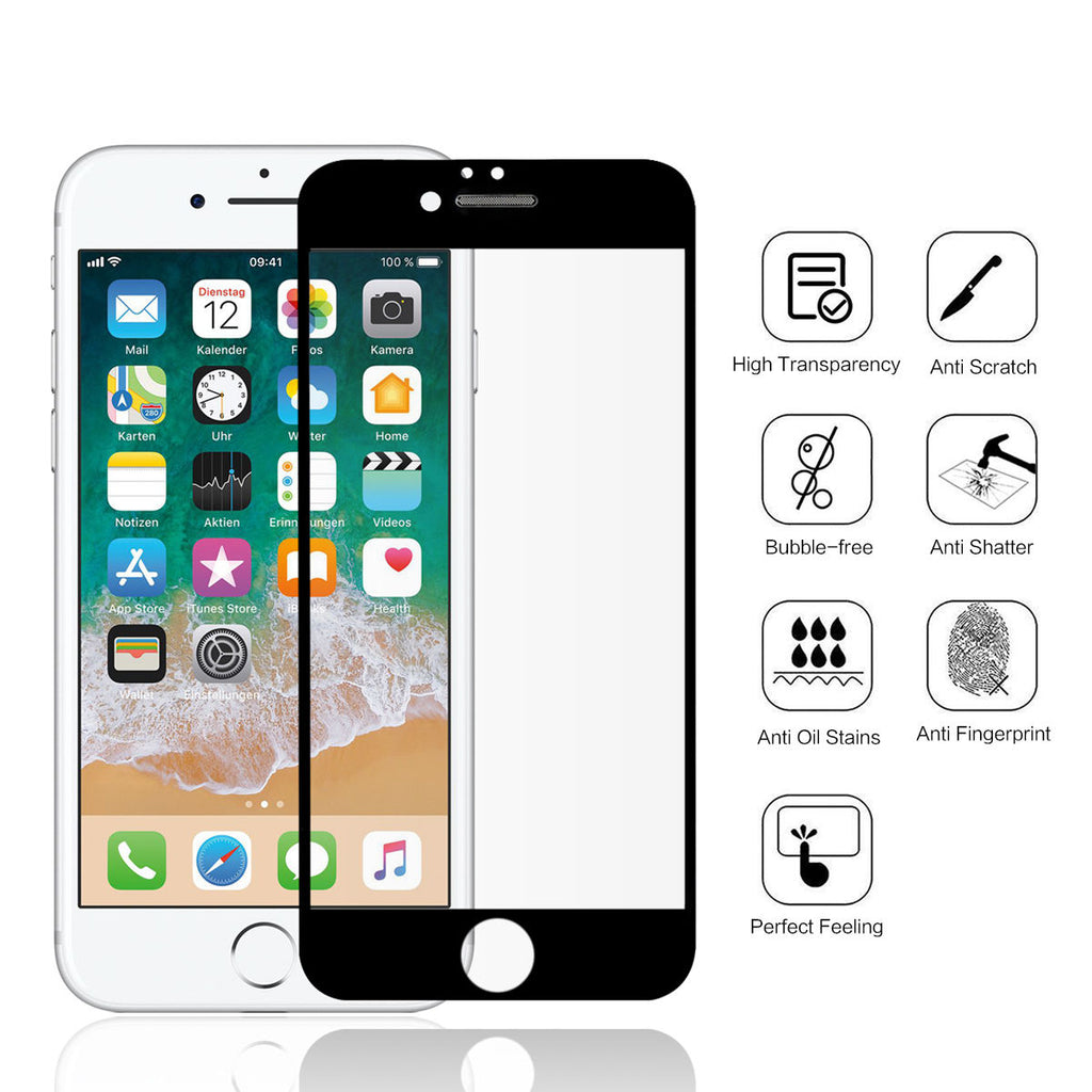 iPhone 6 Plus 6S Plus Tempered Glass Screen Protector 99.99% HD Clarity 2 Pack