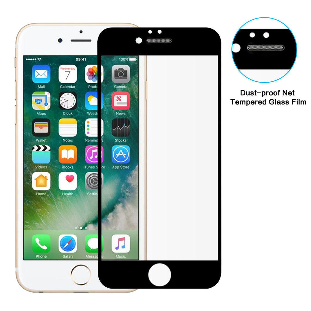 1 Pack iPhone 6 6S Tempered Glass Screen Protector Dust proof Full Screen
