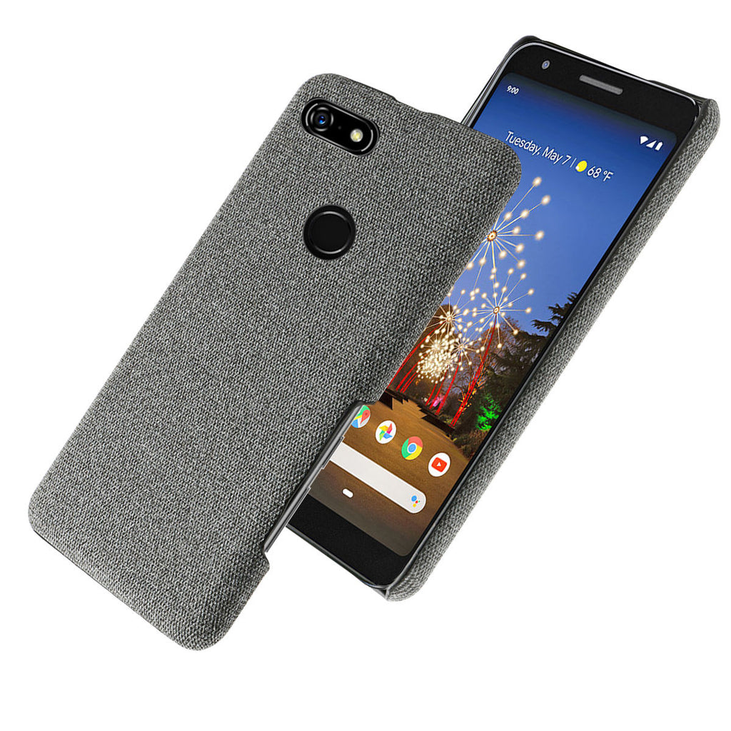 Fabric Case for Pixel 3a Ultra Thin Shockproof Phone Cases Grey